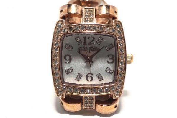 フォリフォリ 腕時計 WF5R120BBS レディース ラインストーンベゼル 1