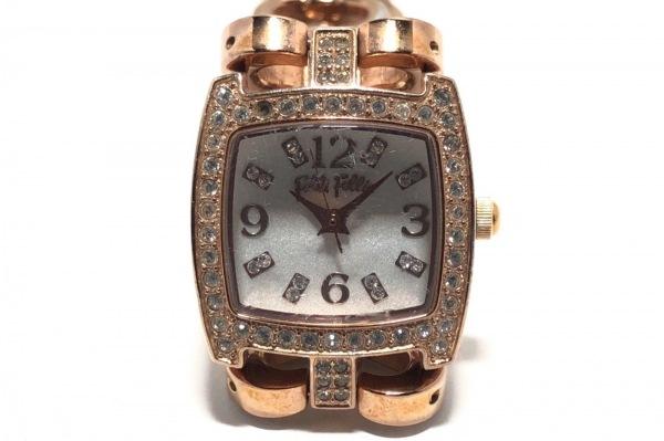 FolliFollie(フォリフォリ) 腕時計 WF5R120BBS レディース ラインストーンベゼル 白