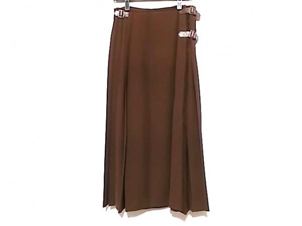 KANEKO ISAO(カネコイサオ) 巻きスカート レディース美品  ブラウン ロング丈