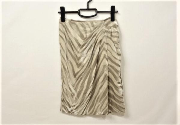 MATERIA(マテリア) スカート サイズ36 S レディース ベージュ×ダークブラウン