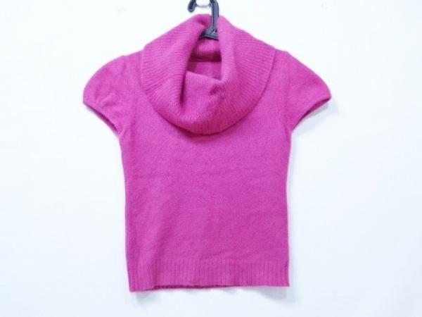MATERIA(マテリア) 半袖セーター サイズ38 M レディース ピンク ハイネック