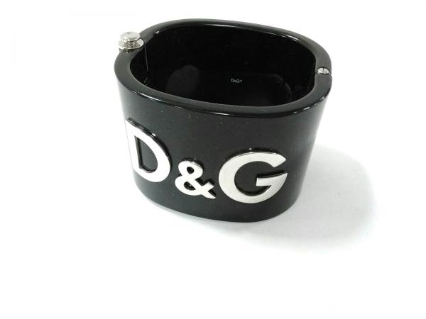D&G(ディーアンドジー) バングル美品  プラスチック×金属素材 黒×シルバー