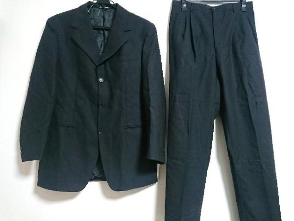 VERRI(ヴェリ) シングルスーツ サイズ48 XL メンズ 黒 ストライプ/肩パッド