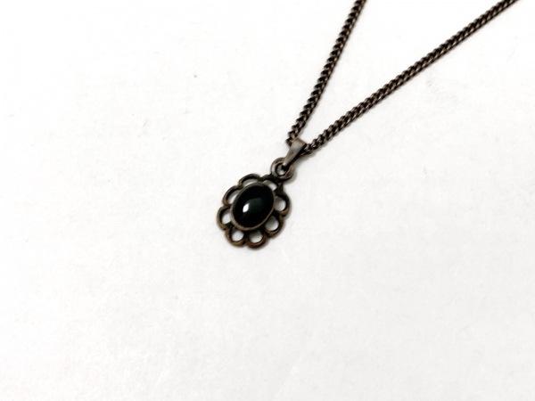 imac(イマック) ネックレス美品  シルバー×カラーストーン 黒