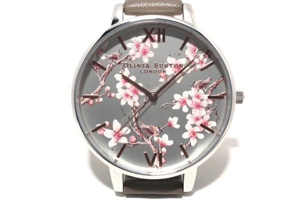 オリビアバートン 腕時計 BIRDS ICED COFFEE OB16PL31 レディース シルバー×マルチ