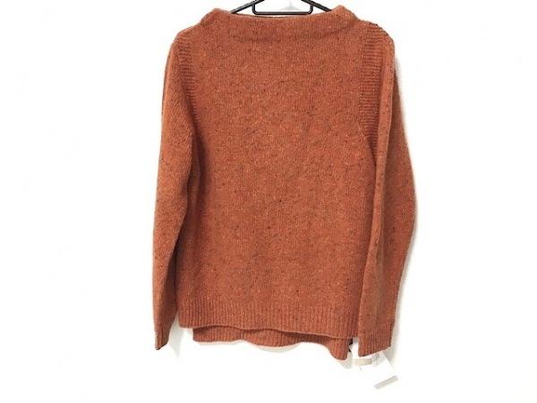 ゲンテン 長袖セーター サイズ38 M レディース美品  オレンジ×マルチ 新品タグ付き