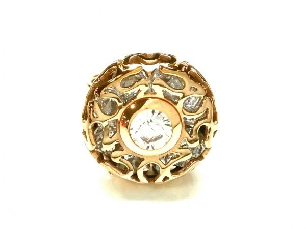 フォリフォリ リング美品  金属素材×ジルコニア ピンクゴールド サイズ:56