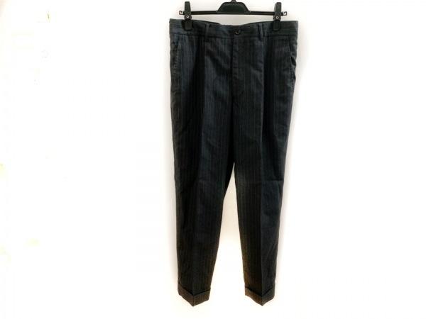 コムデギャルソンシャツ パンツ サイズM メンズ美品  黒×ライトグレー ストライプ