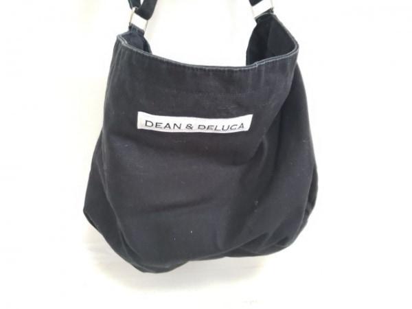 DEAN&DELUCA(ディーンアンドデルーカ) ショルダーバッグ 黒×白 キャンバス