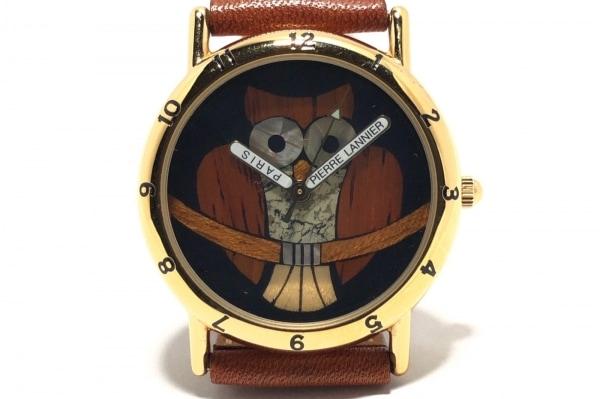 PierreLannier(ピエールラニエ) 腕時計 065.962 レディース フクロウ/限定999個 黒