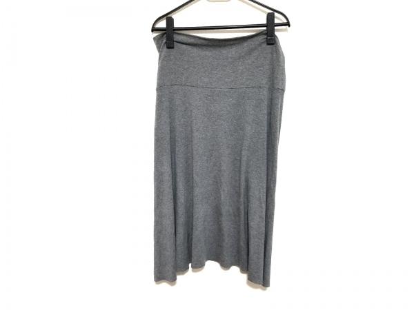 three dots(スリードッツ) スカート サイズS レディース美品  ダークグレー