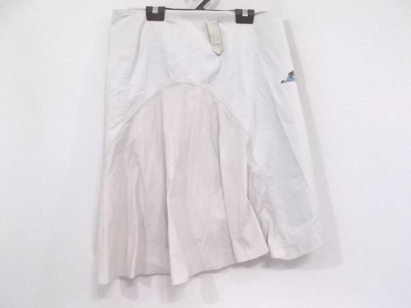 アルベロベロ 巻きスカート レディース美品  ライトグレー×レッド×マルチ 刺繍