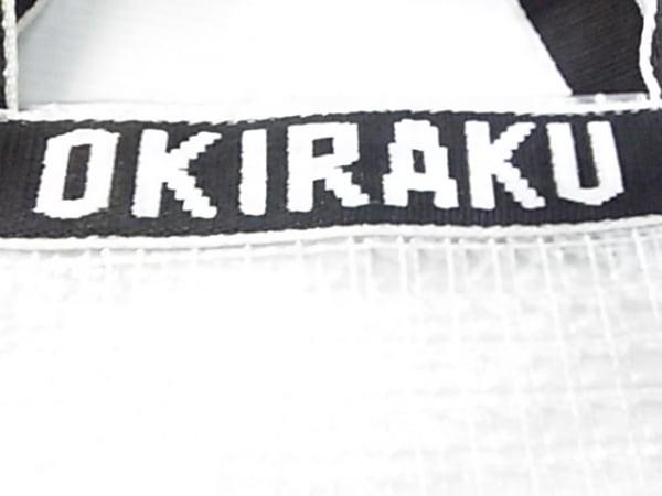OKIRAKU(オキラク) ショルダーバッグ クリア×黒×白 2WAY ビニール×化学繊維