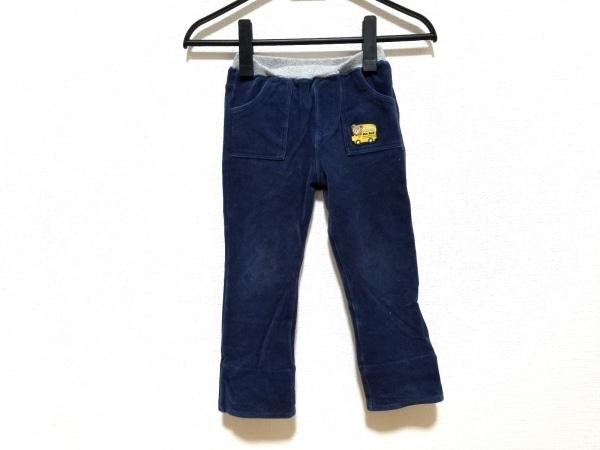 ミキハウス パンツ サイズ100 ユニセックス ネイビー×グレー×マルチ ウエストゴム