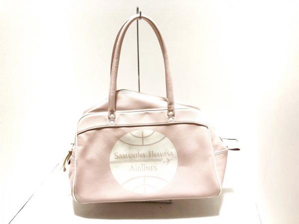 Samantha Thavasa Resort(サマンサタバサ) ショルダーバッグ ライトピンク×白 合皮