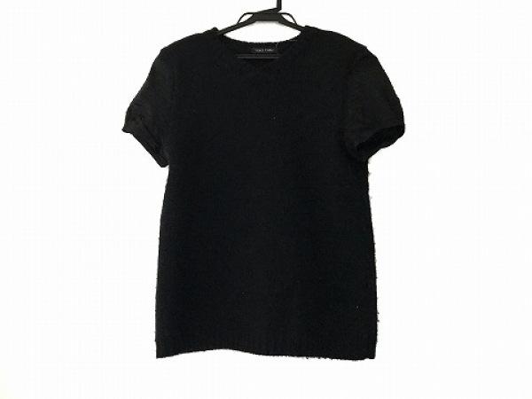 YOKO CHAN(ヨーコ チャン) 半袖セーター サイズ40 M レディース 黒