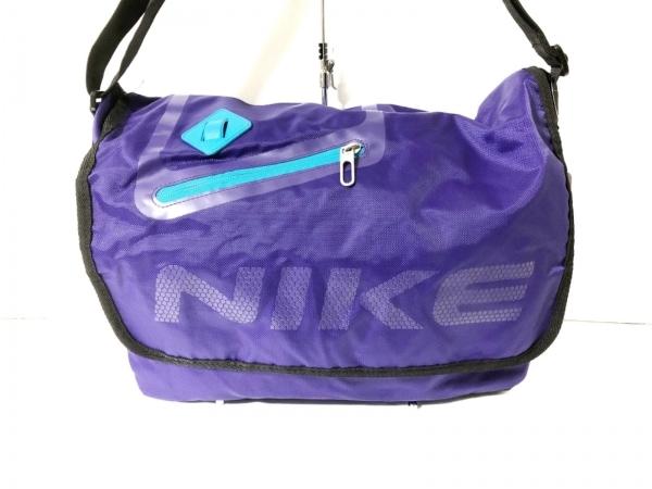 NIKE(ナイキ) ショルダーバッグ パープル×黒×ライトブルー ナイロン