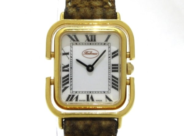 redwall BORBONESE(ボルボネーゼ) 腕時計 4732 レディース 革ベルト 白
