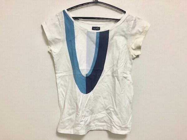 ARMANIJEANS(アルマーニジーンズ) 半袖Tシャツ レディース美品  白×ブルー×ネイビー