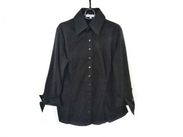 アンフォンティーヌ 長袖シャツブラウス サイズ44 L レディース美品  黒