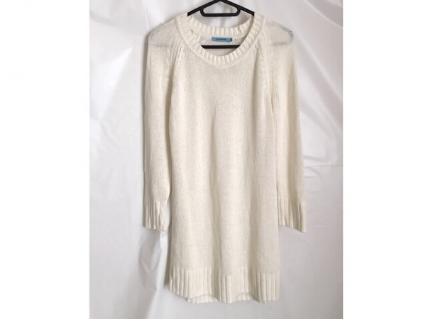 GUILD PRIME(ギルドプライム) 長袖セーター サイズ36 S レディース美品  白 ロング丈