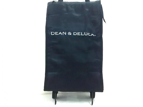ディーンアンドデルーカ バッグ美品  黒×白 保冷バッグ/カート付 ナイロン