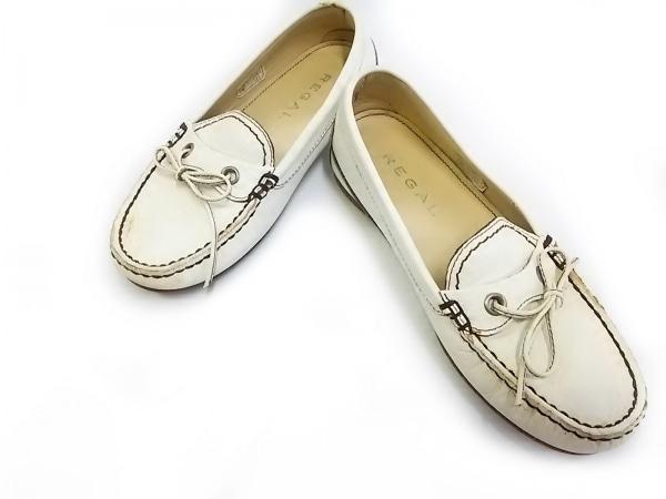 REGAL(リーガル) 靴 22 レディース 白 リボン レザー