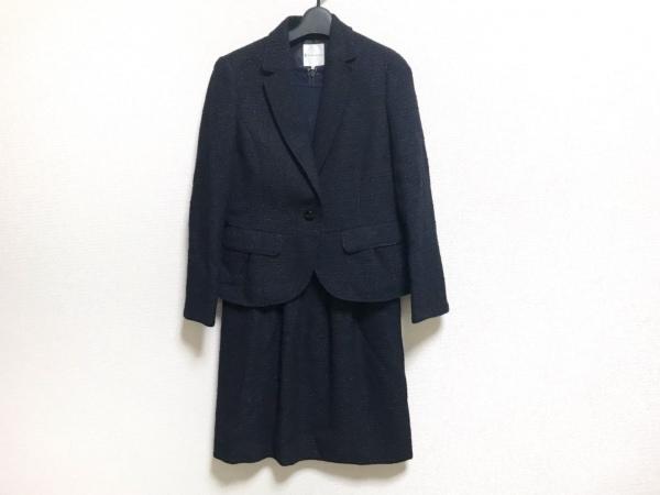 クミキョク ワンピーススーツ サイズ2 M レディース美品  ネイビー ラメ
