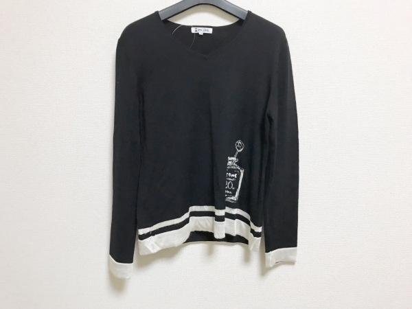 PICONE(ピッコーネ) 長袖セーター サイズ40 M レディース 黒×白 STUDIO