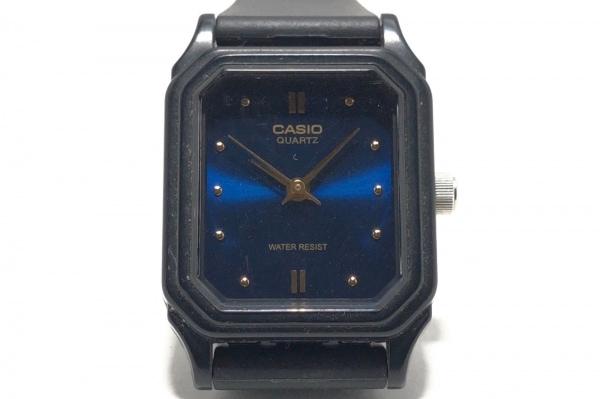 CASIO(カシオ) 腕時計 LQ-142 レディース ラバーベルト ネイビー