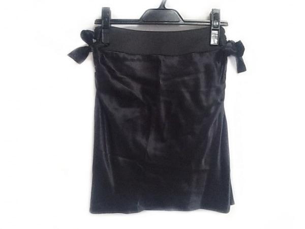 ボディドレッシングデラックス ミニスカート サイズ7 S レディース 黒 シルク