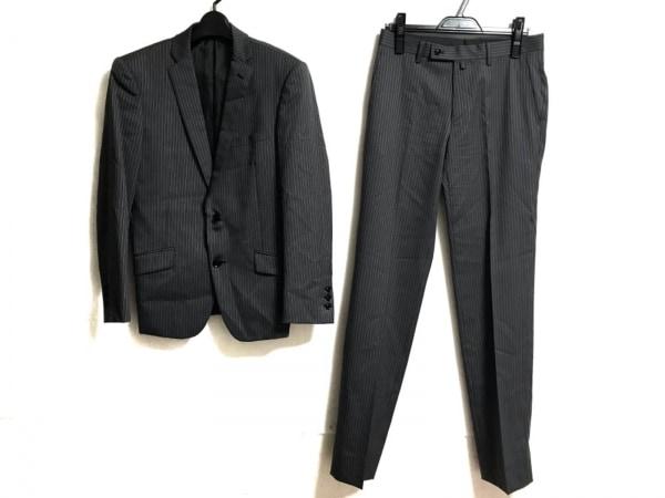 ハイストリート シングルスーツ サイズS メンズ美品  グレー×ライトグレー