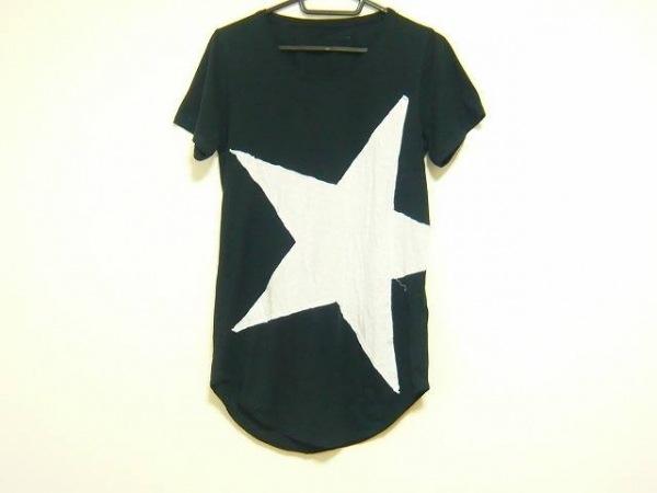 SHARE SPIRIT(シェアスピリット) 半袖Tシャツ サイズ36 S レディース 黒×白 スター