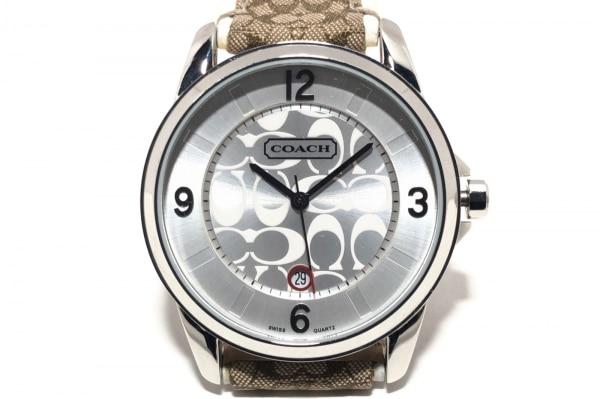 COACH(コーチ) 腕時計美品  ミニシグネチャー柄 0291 レディース シルバー