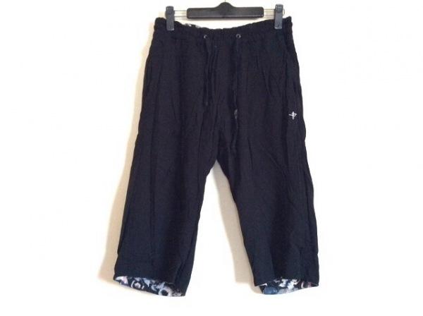 NOID(ノーアイディー) パンツ サイズ1 S メンズ 黒×マルチ リバーシブル/花柄
