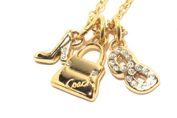 COACH(コーチ) ネックレス 金属素材 ゴールド ラインストーン