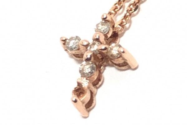 SCARABE(スカラベ) ネックレス K10×ダイヤモンド クロス/0.06カラット