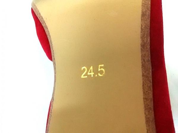 Boisson Chocolat(ボアソン ショコラ) パンプス 24.5 レディース レッド ベロア