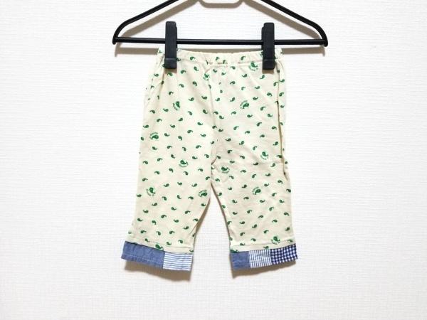 miki HOUSE(ミキハウス) パンツ サイズ90 メンズ アイボリー×グリーン DOUBLE.B