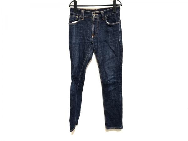 NudieJeans(ヌーディージーンズ) ジーンズ サイズ30 メンズ ネイビー×オレンジ
