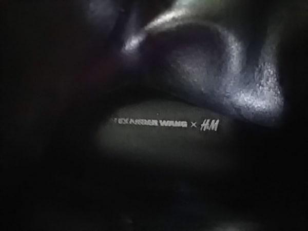 アレキサンダーワン×エイチアンドエム シューズ レディース 黒 レザー×化学繊維