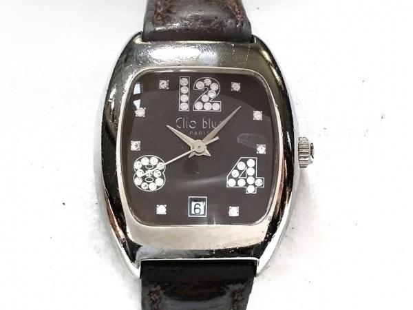 Clioblue(クリオブルー) 腕時計 731017.2-C03 レディース 革ベルト ダークブラウン