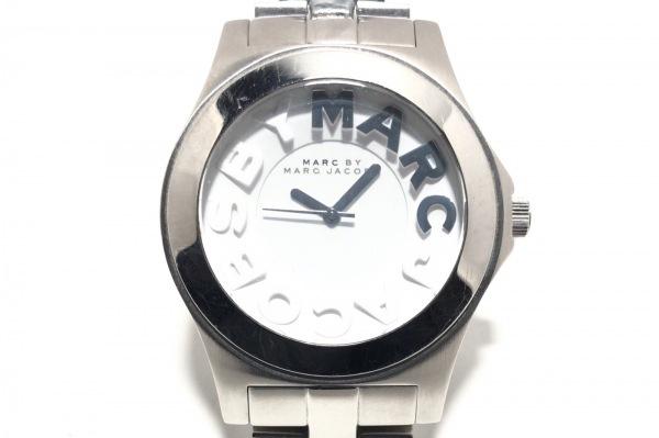pretty nice 06353 f559e マークジェイコブス 腕時計 MBM9031A/MBM4523C メンズ ラインストーン 白/白