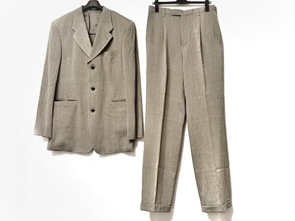 monsieur NICOLE(ムッシュニコル) シングルスーツ サイズ52 メンズ カーキ