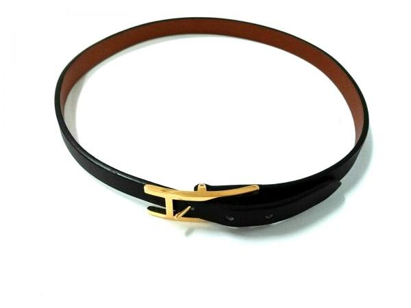HERMES(エルメス) ブレスレット美品  アピ3 レザー×金属素材 黒×ゴールド 2連
