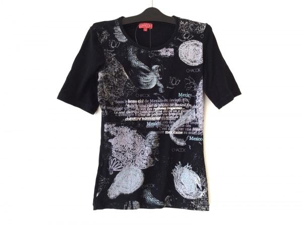 CHACOK(シャコック) 半袖Tシャツ サイズM レディース 黒×マルチ