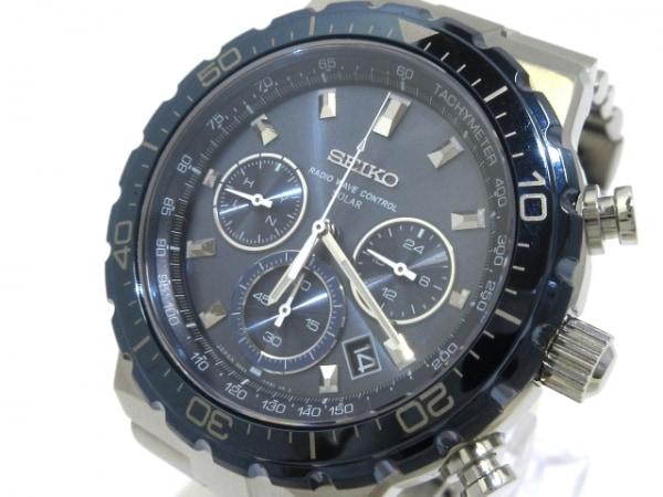 a595de507a SEIKO(セイコー) 腕時計美品 ブライツ 8B82-0AB0 メンズ ネイビーの中古 ...