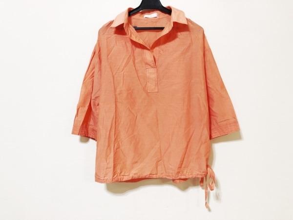 Cara(カーラ) 七分袖カットソー レディース オレンジ