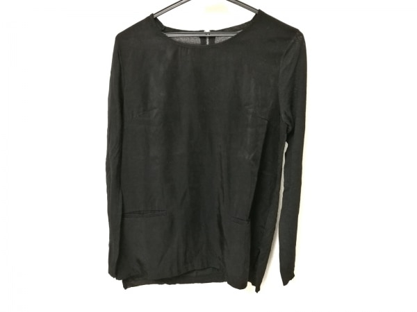 ボディドレッシングデラックス 長袖セーター レディース 黒 異素材切り替え