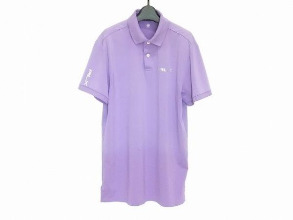 RLX(RalphLauren)(ラルフローレン) 半袖ポロシャツ サイズS メンズ パープル
